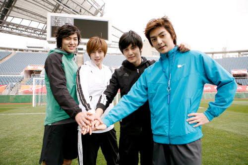 (L-R) BOF's Min Ho, Hyun Joong, Kim Bum and Kim Joon
