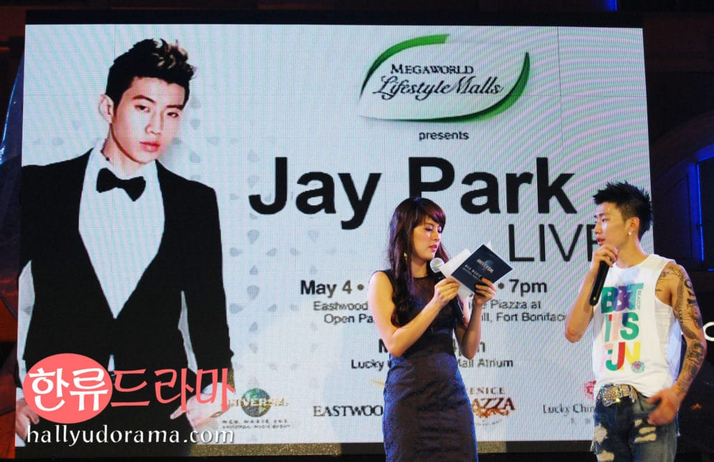 Jay Park with RX93.1 DJ and host Jinri Park