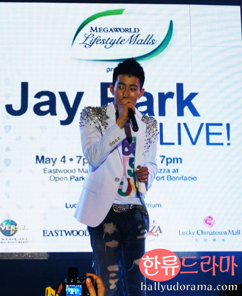 Jay Park in Eastwood Mall Open Park
