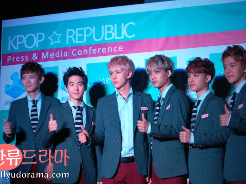 EXO K at Kpop Republic 2013 presscon