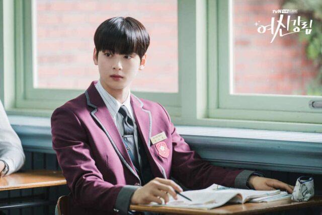 Cha Eun-woo as Lee Suho in tvN's True Beauty.