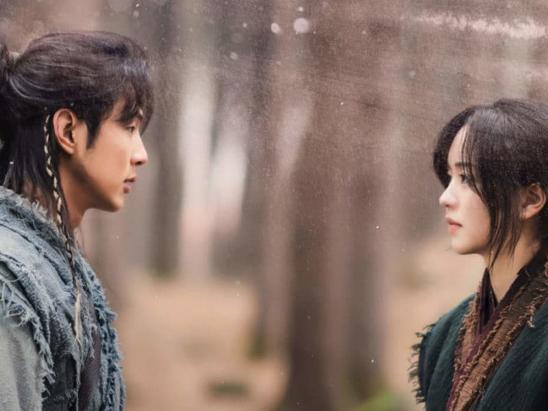 "Ji Soo and Kim So-hyun in ""River Where the Moon Rises"""