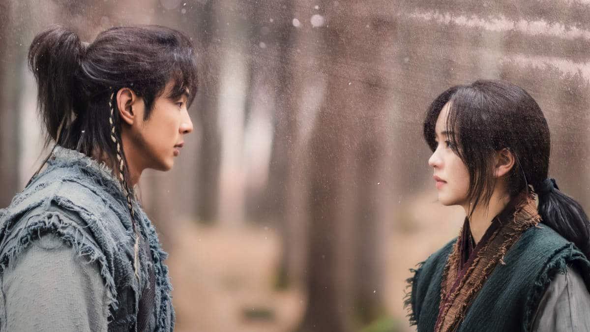 "Ji Soo and Kim So-hyun in ""River Where the Moon Rises"""