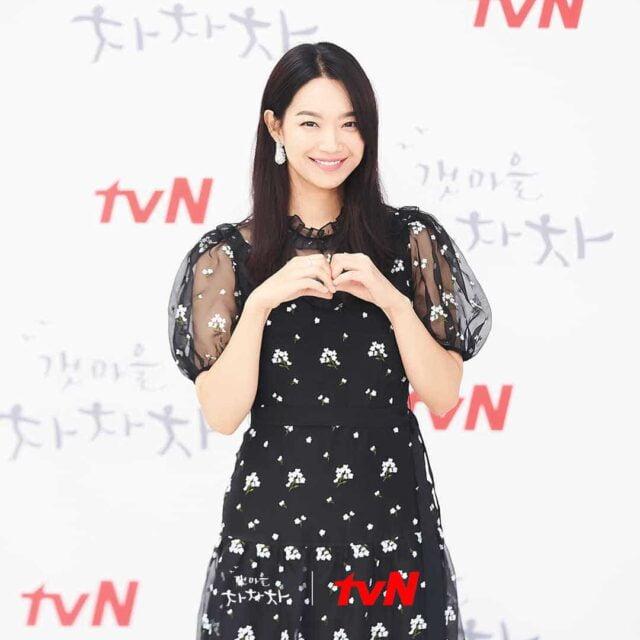 """Shin Min-a at the """"Hometown Cha-Cha-Cha"""" press conference"""
